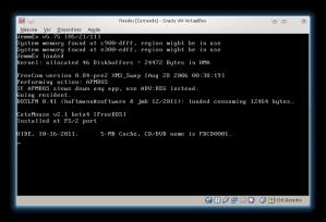 FreeDOS colgado en VirtualBox
