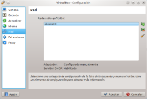 Creando una interfáz solo-anfitrión en VirtualBox