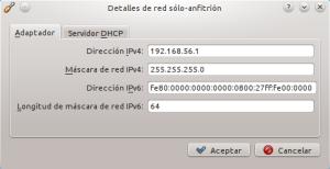 Configurando la IP de la interfáz solo-anfitrión
