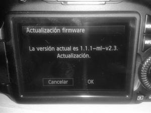 Verificando la versión del firmware