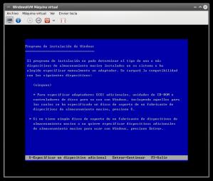 Windows no encuentra un disco rígido donde instalarse